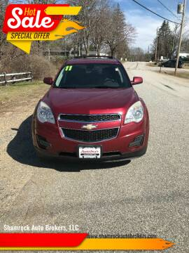 2011 Chevrolet Equinox for sale at Shamrock Auto Brokers, LLC in Belmont NH