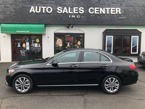 2018 Mercedes-Benz C-Class for sale at Auto Sales Center Inc in Holyoke MA