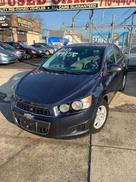 2015 Chevrolet Sonic for sale at Reliance Auto Group in Staten Island NY