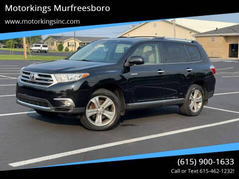 2012 Toyota Highlander for sale at Motorkings Murfreesboro in Murfreesboro TN