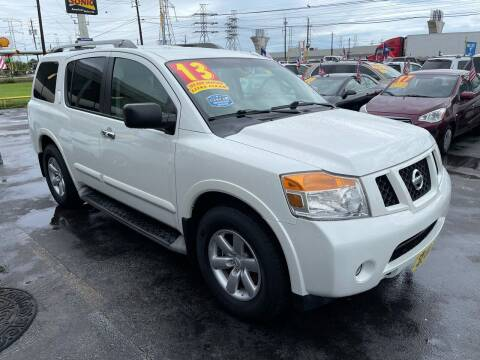 2013 Nissan Armada for sale at Texas 1 Auto Finance in Kemah TX