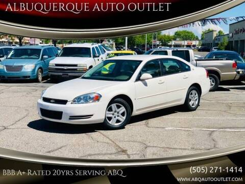 2006 Chevrolet Impala for sale at ALBUQUERQUE AUTO OUTLET in Albuquerque NM