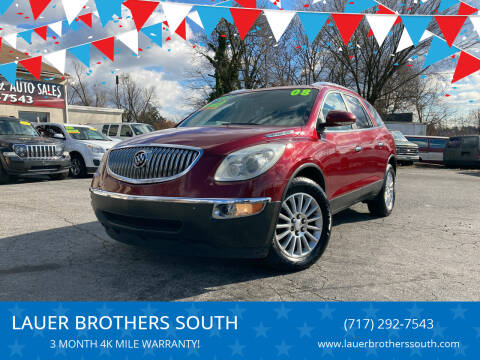 2008 Buick Enclave for sale at LAUER BROTHERS SOUTH in York PA
