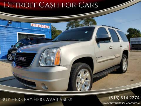 2008 GMC Yukon for sale at Detroit Cash for Cars in Warren MI