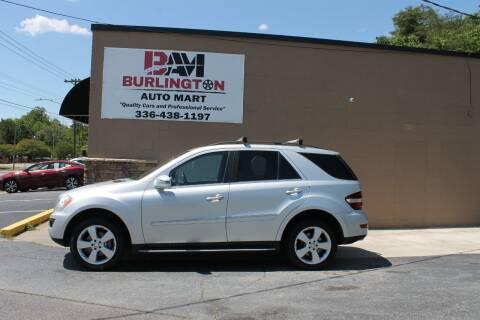 2011 Mercedes-Benz M-Class for sale at Burlington Auto Mart in Burlington NC