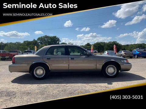 2001 Mercury Grand Marquis for sale at Seminole Auto Sales in Seminole OK