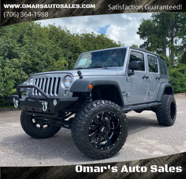 2015 Jeep Wrangler Unlimited for sale at Omar's Auto Sales in Martinez GA
