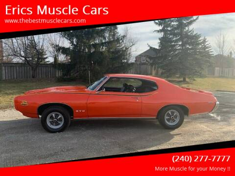 1969 Pontiac GTO for sale at Erics Muscle Cars in Clarksburg MD