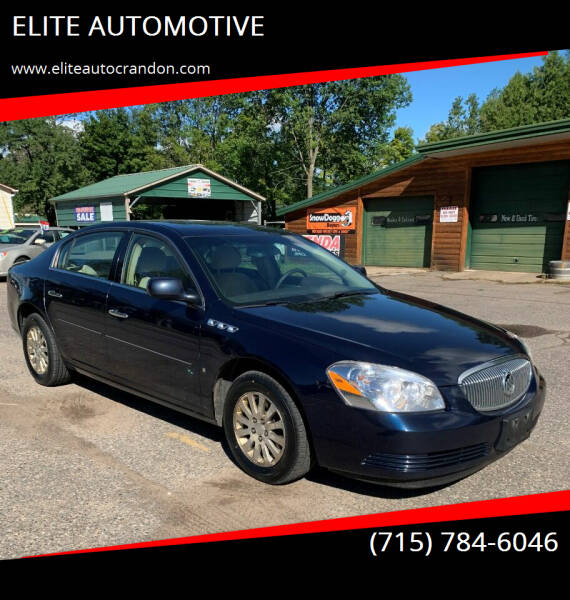 2007 Buick Lucerne for sale at ELITE AUTOMOTIVE in Crandon WI