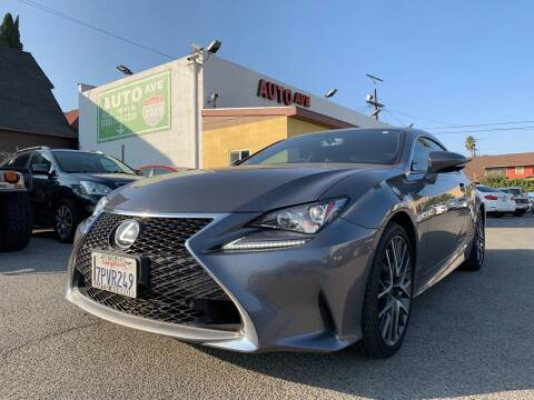 2016 Lexus RC 200t for sale at Auto Ave in Los Angeles CA
