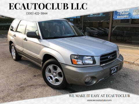 2004 Subaru Forester for sale at ECAUTOCLUB LLC in Kent OH