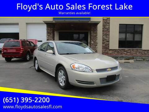 2012 Chevrolet Impala for sale at Floyd's Auto Sales Forest Lake in Forest Lake MN