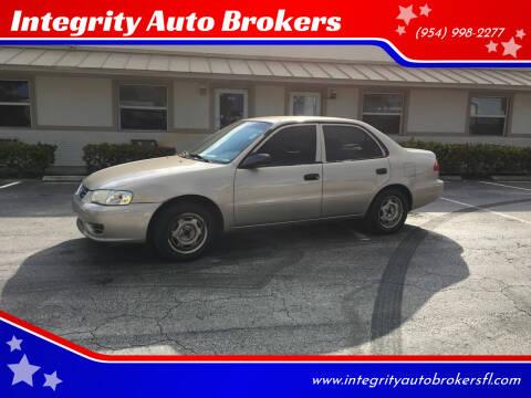 2002 Toyota Corolla for sale at Integrity Auto Brokers in Pompano Beach FL