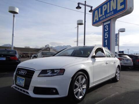 2009 Audi A4 for sale at Alpine Auto Sales in Salt Lake City UT