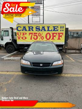1999 Honda Accord for sale at Budget Auto Deal and More Services Inc in Worcester MA