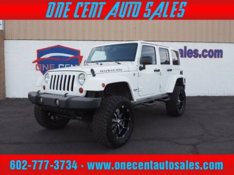 2013 Jeep Wrangler Unlimited for sale at One Cent Auto Sales in Glendale AZ