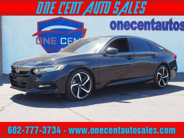 2018 Honda Accord for sale at One Cent Auto Sales in Glendale AZ