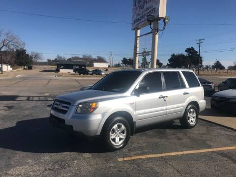 2007 Honda Pilot for sale at Patriot Auto Sales in Lawton OK