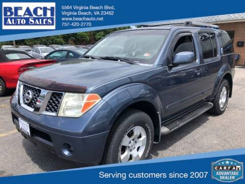 2005 Nissan Pathfinder for sale at Beach Auto Sales in Virginia Beach VA