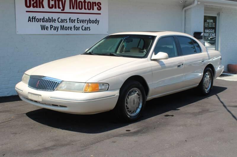 1995 Lincoln Continental for sale at Oak City Motors in Garner NC