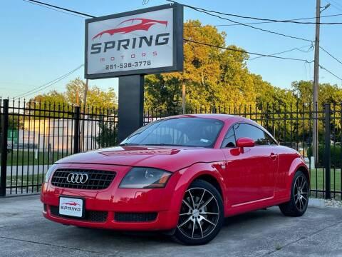 2005 Audi TT for sale at Spring Motors in Spring TX