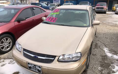 2002 Chevrolet Malibu for sale at Bailey & Sons Motor Co in Lyndon KS