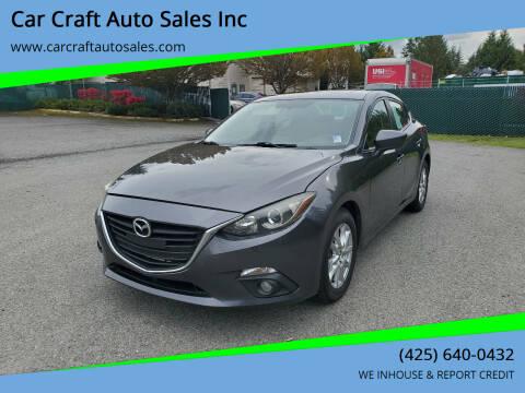 2016 Mazda MAZDA3 for sale at Car Craft Auto Sales Inc in Lynnwood WA