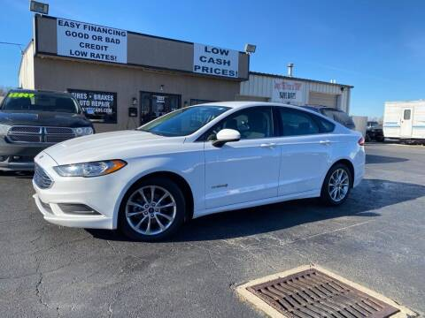 2017 Ford Fusion Hybrid for sale at Used Car Factory Sales & Service Troy in Troy OH