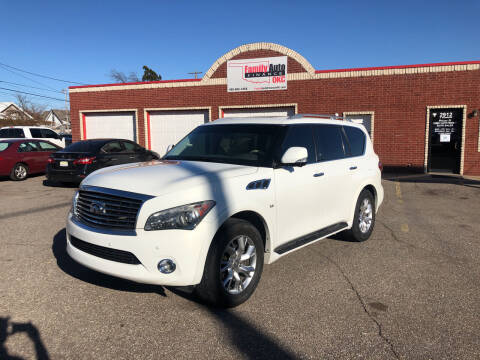 2014 Infiniti QX80 for sale at Family Auto Finance OKC LLC in Oklahoma City OK