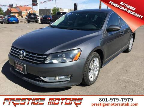 2012 Volkswagen Passat for sale at Prestige Motors LLC in Salt Lake City UT