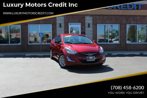 2016 Hyundai Elantra for sale at Luxury Motors Credit Inc in Bridgeview IL
