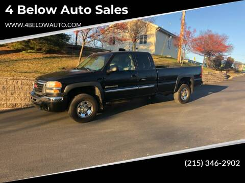 2003 GMC Sierra 2500HD for sale at 4 Below Auto Sales in Willow Grove PA