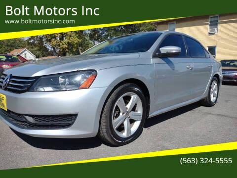 2012 Volkswagen Passat for sale at Bolt Motors Inc in Davenport IA