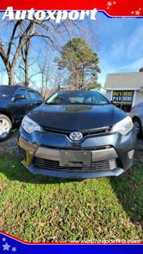 2015 Toyota Corolla for sale at Autoxport in Newport News VA