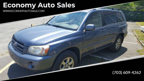 2005 Toyota Highlander for sale at Economy Auto Sales in Dumfries VA