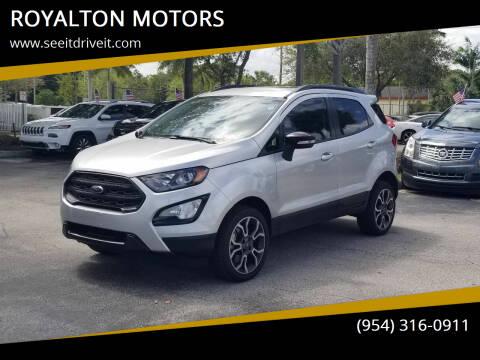 2020 Ford EcoSport for sale at ROYALTON MOTORS in Plantation FL