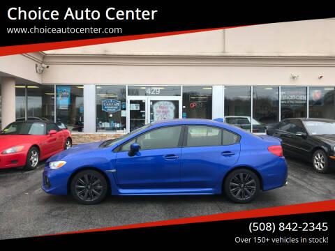 2020 Subaru WRX for sale at Choice Auto Center in Shrewsbury MA