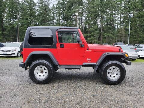 2005 Jeep Wrangler for sale at WILSON MOTORS in Spanaway WA