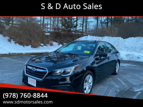 2018 Subaru Legacy for sale at S & D Auto Sales in Maynard MA