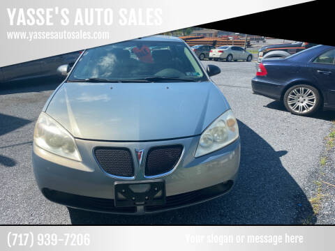 2007 Pontiac G6 for sale at YASSE'S AUTO SALES in Steelton PA