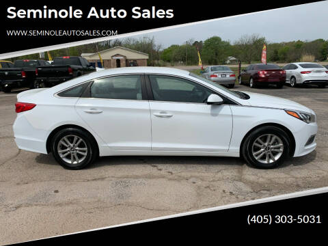 2017 Hyundai Sonata for sale at Seminole Auto Sales in Seminole OK