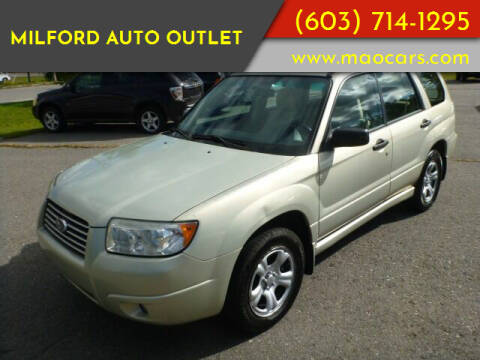 2007 Subaru Forester for sale at Milford Auto Outlet in Milford NH