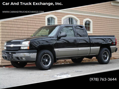 2003 Chevrolet Silverado 1500 for sale at Car and Truck Exchange, Inc. in Rowley MA