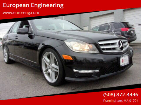 2013 Mercedes-Benz C-Class for sale at European Engineering in Framingham MA