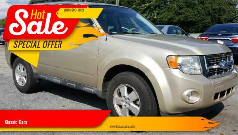 2011 Ford Escape for sale at Klassic Cars in Lilburn GA