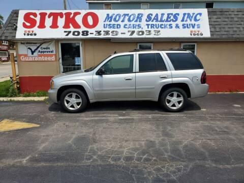 2008 Chevrolet TrailBlazer for sale at SITKO MOTOR SALES INC in Cedar Lake IN