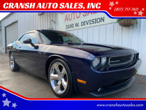 2013 Dodge Challenger for sale at CRANSH AUTO SALES, INC in Arlington TX