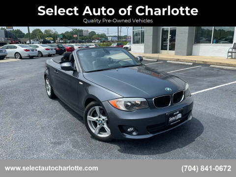 2013 BMW 1 Series for sale at Select Auto of Charlotte in Matthews NC