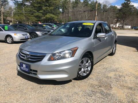 2012 Honda Accord for sale at Hornes Auto Sales LLC in Epping NH