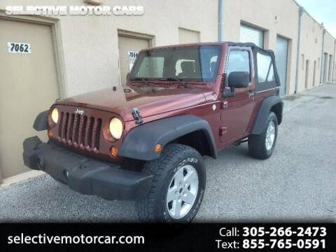 2010 Jeep Wrangler for sale at Selective Motor Cars in Miami FL